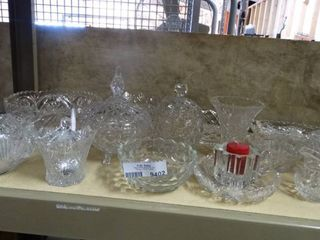 large lot of Cut Glassware
