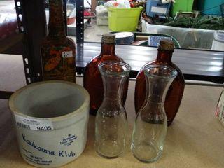 Old Bottles and Crock