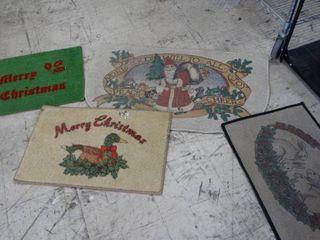 4 Christmas Throw Rugs
