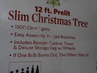 12  Prelit Slim Christmas Tree in 2 Boxes