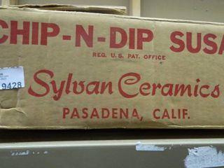 Vintage Chip N Dip Susan by Sylvan Ceramics in Box