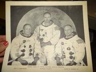 Photo of Neil Armstrong  Michael Collins  Edwin Aldrin