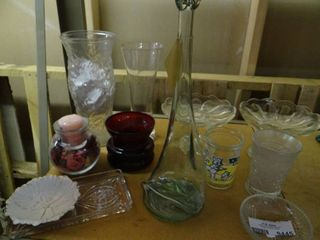 lot of Glass Items