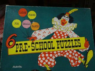Vintage Pre School Puzzles