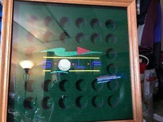 Golf ball storage display case