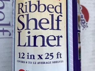 Three rolls of ribbed shelf liner as pictures