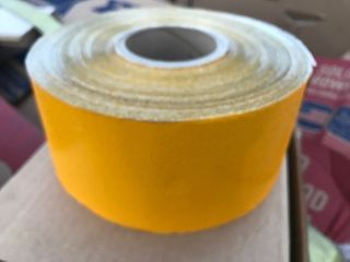 4 x 50 yd roll of yellow pavement striping