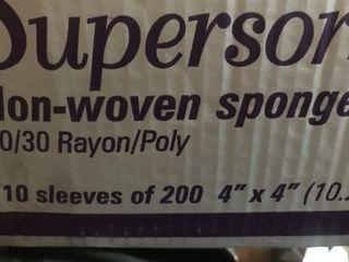 Case of 200 4 x 4 non medical sponges