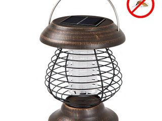 2 in 1 Ultraviolet Mosquito Bug Zapper and lED Tent or Patio lantern   Portable Solar Powered Nontoxic light by Wakeman Outdoors