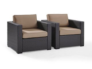 Biscayne Mocha Wicker Outdoor Seating Chair  Retail 327 49