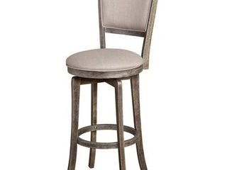 French Country 30 inch Grey Swivel Bar stool
