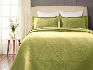 Superior Designer Celtic Circles Scalloped Bedspread   Retail 91 99