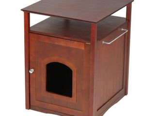 Zooville  Cat litter Box Cover   Night Stand  Walnut  25 in