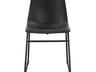 Walker Edison Faux leather Dining Chairs   Set of 2