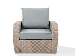 st augustine outdoor wicker Chair with mist cushion   Retail 375 24