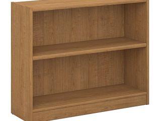 Bush Furniture Universal 2 Shelf Bookcase in Snow Maple