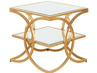 Madison Park Jace Glam Gold End Table  Retail 146 99