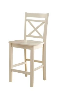 ACME Tartys Counter Height Chair  Cream  Set of 2