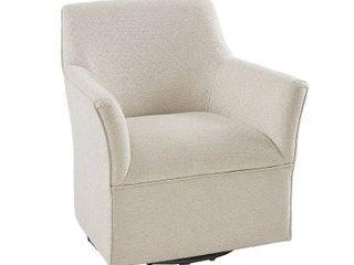 Madison Park Caddy Cream Swivel Glider Chair   Retail 427 49