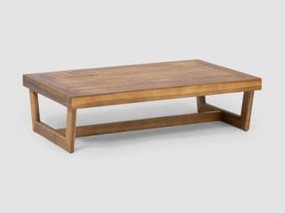 Sherwood Outdoor Acacia Wood Coffee Table by Christopher Knight Home   Retail 123 00