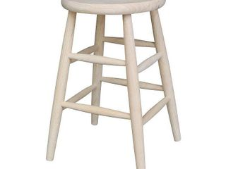 International Concepts Unfinished Scooped Seat Stool