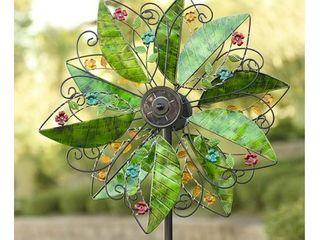 Wind   Weather Solar leaves Wind Garden Spinner