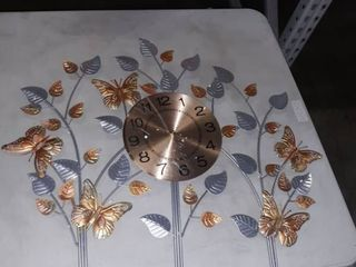 Butterfly and leaf Wall Clock