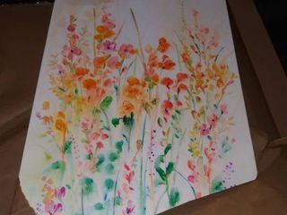 32x24  floral canvas