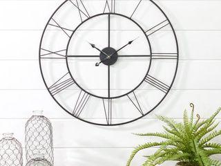 Alpin Round Metal Wall Clock   24 H x 24 W x 0 5 D
