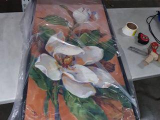 2x4  black framed magnolia canvas