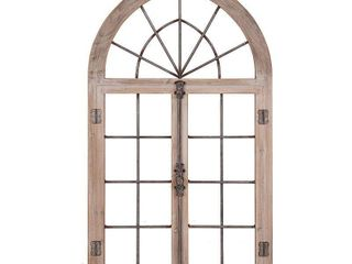 Patton Wall Decor Distressed Gray Arched Cathedral Window Frame Wall Decor  Retail 151 49
