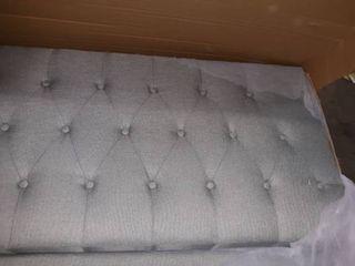 Carson Carrington Valsta Tufted Fabric Headboard Bed