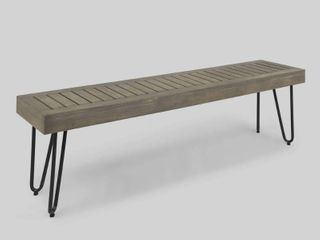Jane Outdoor Industrial Bench by Christopher Knight Home