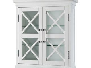 Elegant Home Fashions Grayson Wall Cabinet with two Doors  Retail 106 49