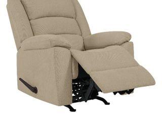 Copper Grove Stokkem low Pile Velvet Rocker Recliner Chair  Retail 439 99