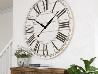 Renata Oversize Shiplap Wall Clock