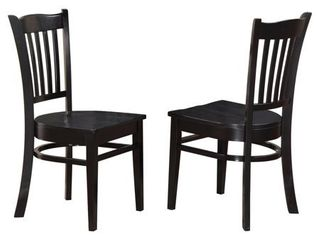 Groton Wooden Seat Dining Chairs  Retail 138 49 Set of 2