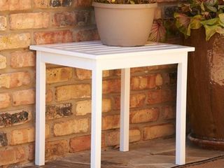 SEI End Table  White  possibly missing hardware