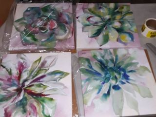 Porch and Den Karley succulent watercolor canvases