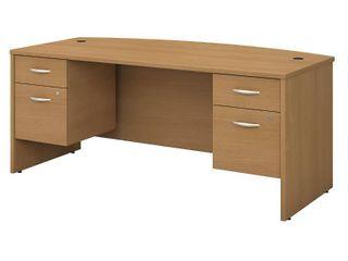 Bush Business Furniture Series C 72W Bow Front Desk with Pedestals   Retail 786 99