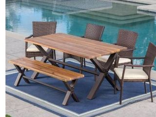 Brandywine Outdoor Rectangle Wood Dining Table Christopher Knight Home