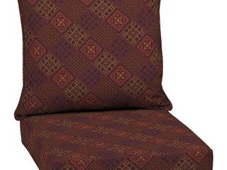 Arden Selections Azulejo Southwest Outdoor 24 in  Conversation Set Cushion   46 5 in l x 24 in W x 5 75 in H