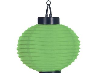 Pure Garden Outdoor Solar Chinese lanterns   lED   Set of 4   Green