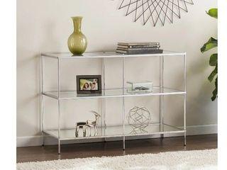 silver orchid grant glam mirror console shelf