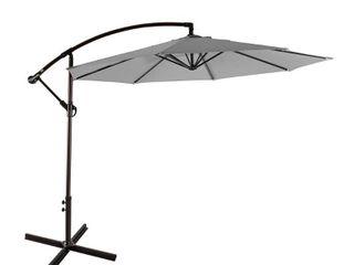Set of 2 Weller 10 Ft Offset Cantilever Hanging Patio Umbrella   Retail 122 99