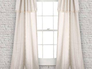 Box of 2 lush Decor Ivy Tassel Window Curtain Panel Pair