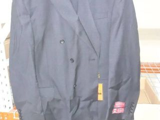 Men s Classic Fit Black Double Breasted Wool Suit
