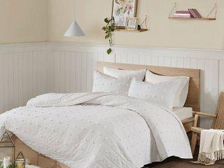 Urban Habitat Maize Cotton Jacquard Coverlet Set  Retail 99 98