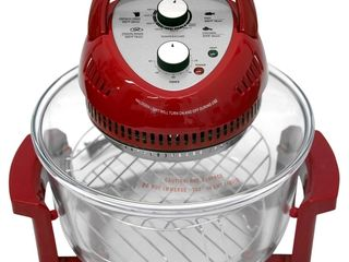 Big Boss 16 Quart 1300 Watt Oil less Air Fryer   Tabletop Convection Oven  Easy Operation with Built In Timer  Includes 50 Recipe Cookbook  Red  As Seen on TV
