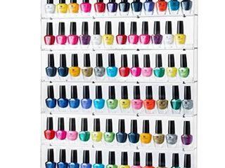 sagler nail polish rack   acrylic nail polish organizer holds up to 102 bottles   clear nail polish holder nail polish storage